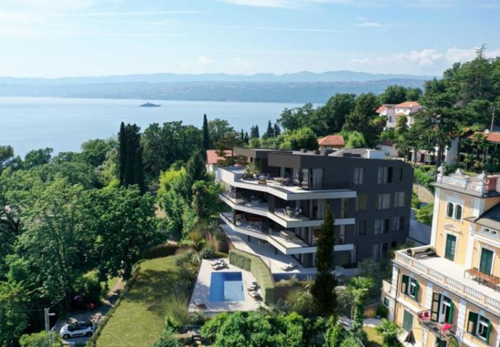 Super-luxury apartments in Opatija with swimming pool