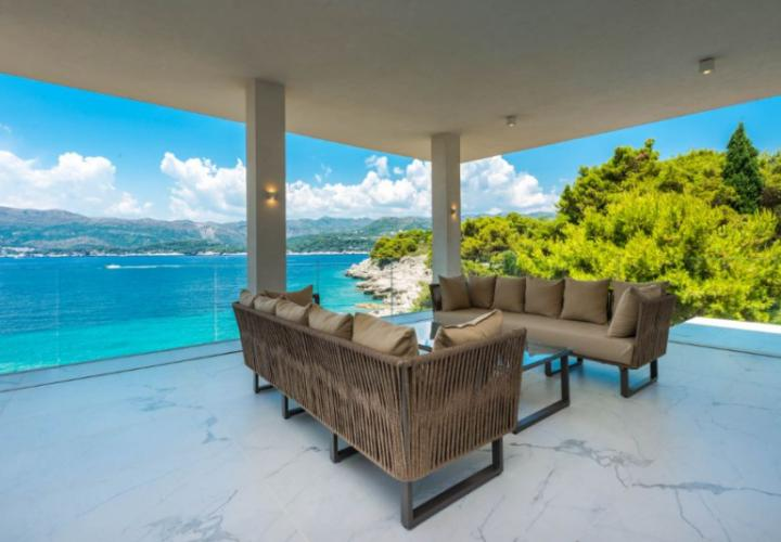 New modern seafront villa near Dubrovnik on one of Elafiti islands