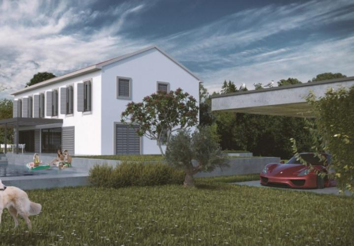 Nice villa under construction in Vižinada area, Porec region