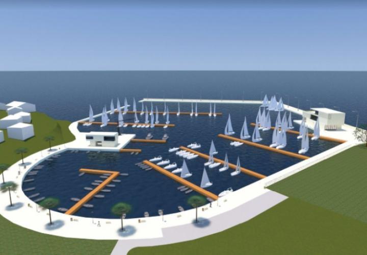 Project of modern luxury marina on Rab island