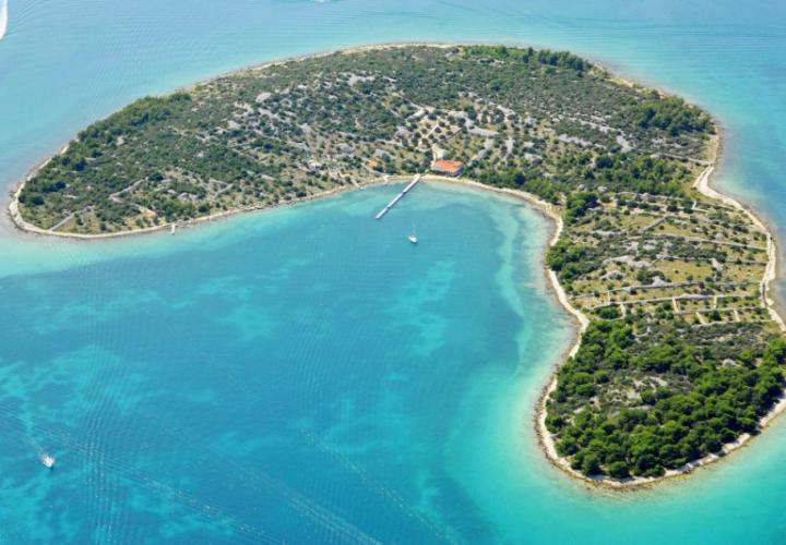 Large land plot for sale on a lonely island of Kornati
