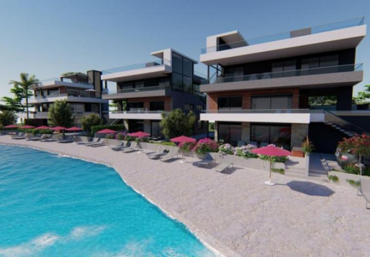 Lux apartments for sale in Sukosan, first line to the sea