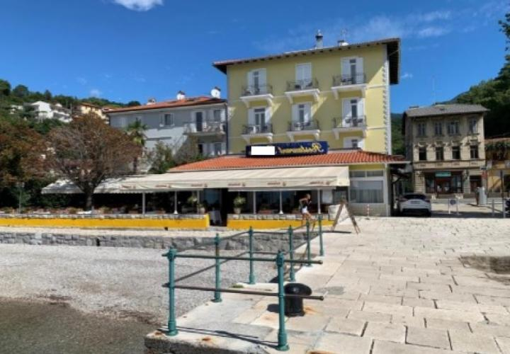 Seafront hotel in Opatija area with beach and pier in private use