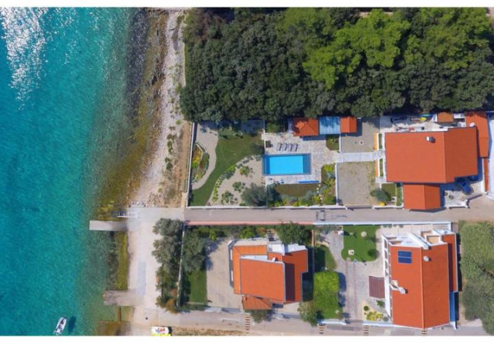 Peaceful first line villa in Zadar area, right by the beach with pier for the boat in front of the villa