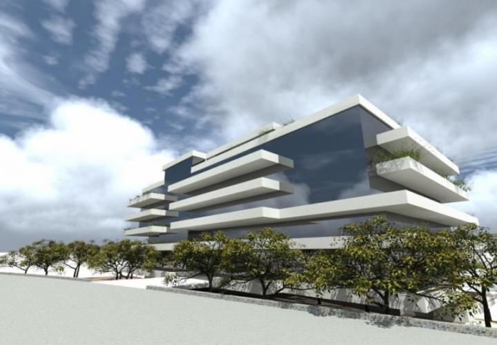 Выгодный участок под строительство в Сплите с разрешением на строительство в процессе получения