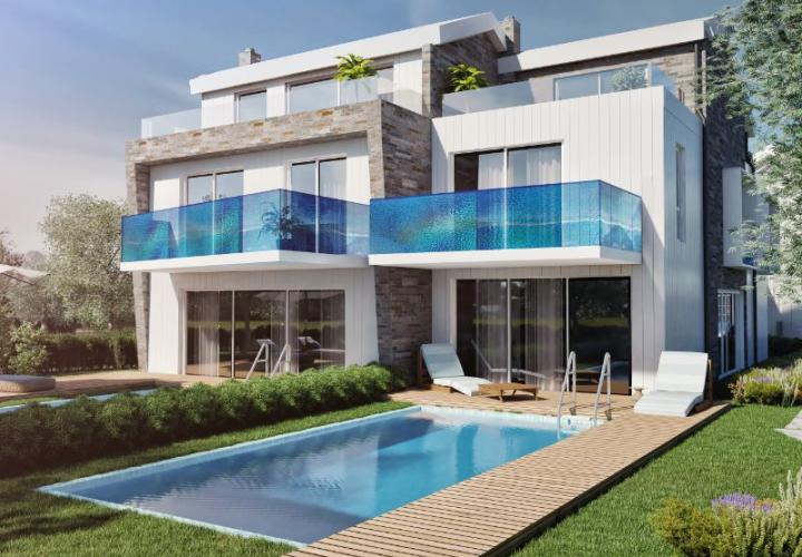 New villas with pool just 70 m from the sea, Porec
