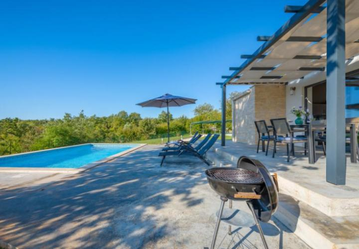 Beautiful new villa in Sv.Petar area on land plot of 22000 sq.m. - unique offer!