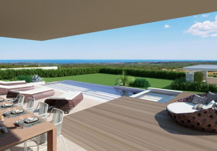 Excellent new villa with a pool and sea view, Porec