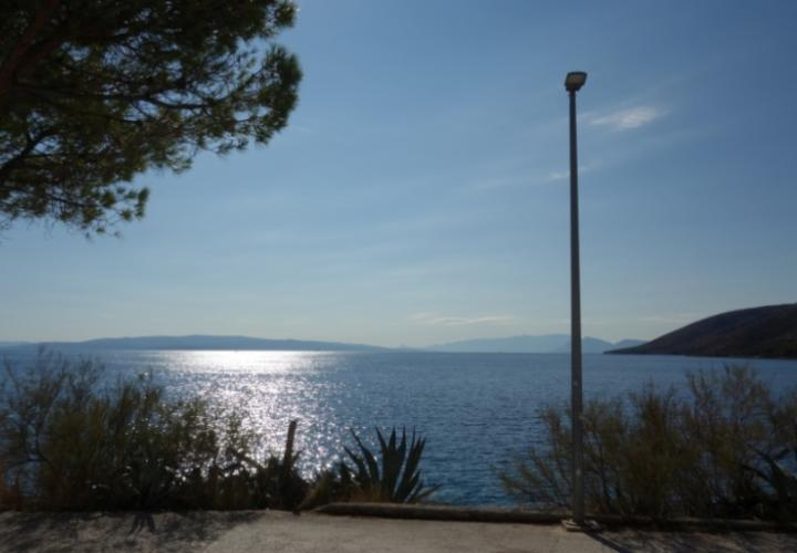 Land plot on Ciovo, Trogir just 20 meters from the beach with perfect sea view