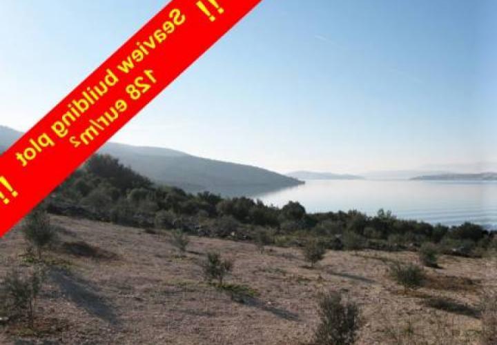 Urbanized land plot 50 meters from the sea on Ciovo area, Trogir