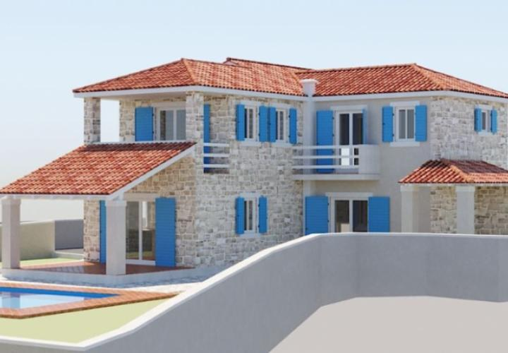LUX villa in Primosten area under construction