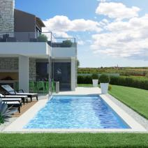 New modern villa with a pool and sea view near Porec - pic 1