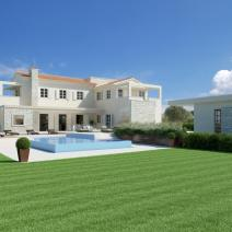 New villa with a pool and sea view, Porec - pic 1
