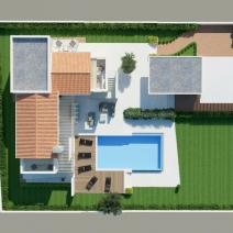 New villa with a pool and sea view, Porec - pic 3