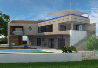 New modern villa 225m2 with a pool, Poreč