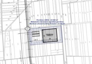 Land plot for factory construction in Zagreb suburb